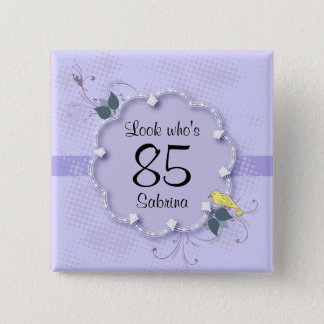 85th Birthday Party | DIY Text 15 Cm Square Badge