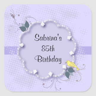 85th Birthday Party   DIY Text Square Sticker