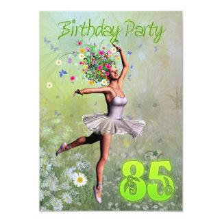 "85th Birthday party invitation 5"" X 7"" Invitation Card"