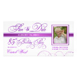 85th Birthday - Save the Date Photo Announcement Photo Card