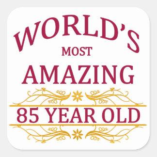85th. Birthday Square Sticker