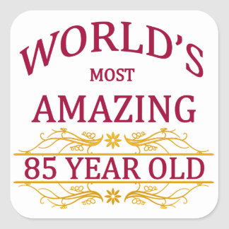 85th. Birthday Stickers