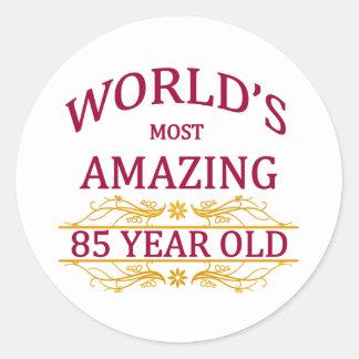 85th. Birthday Round Sticker