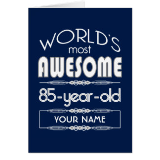 85th Birthday Worlds Best Fabulous Dark Blue Card
