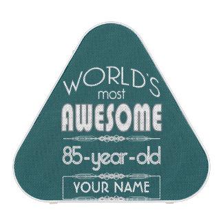85th Birthday Worlds Best Fabulous Dark Green Bluetooth Speaker