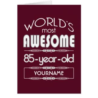 85th Birthday Worlds Best Fabulous Dark Red Greeting Card