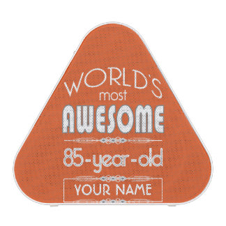 85th Birthday Worlds Best Fabulous Flame Orange Bluetooth Speaker