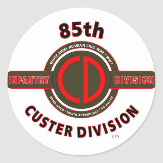 "85TH INFANTRY DIVISION "" CUSTER DIVISION"" CLASSIC ROUND STICKER"