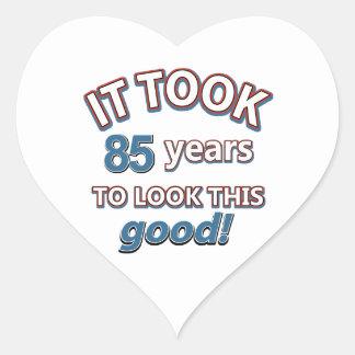 85th year birthday designs stickers