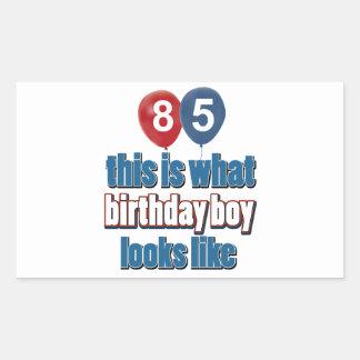 85th year birthday designs rectangular sticker