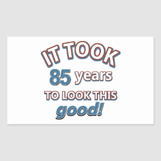 85th year birthday designs rectangle stickers