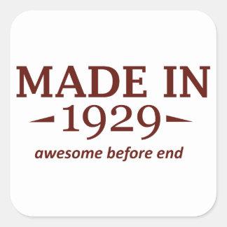 85th year birthday designs square sticker