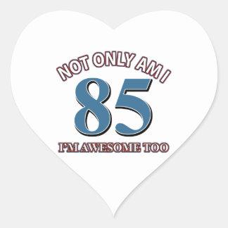 85th year designs heart sticker
