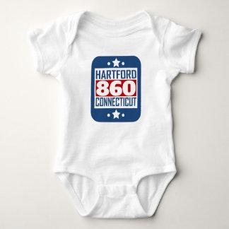 860 Hartford CT Area Code Baby Bodysuit