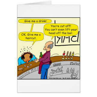 862 give me a haircut cartoon card