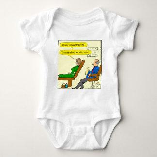 863 computer dating cartoon baby bodysuit