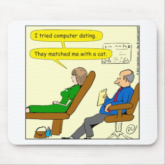 863 computer dating cartoon mouse pad