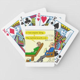 863 computer dating cartoon poker deck