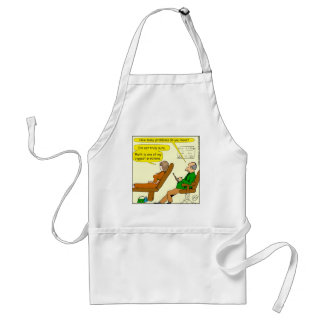 865 how many problems do you have - CARTOON Standard Apron