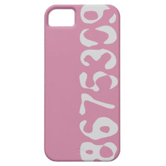 8675309 Phone Case Pink With Gray Numbers - FUN
