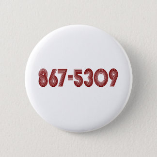 867-5309 6 CM ROUND BADGE