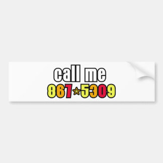 867-5309 CAR BUMPER STICKER