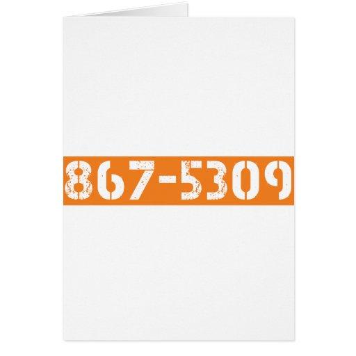 867-5309 GREETING CARD