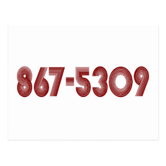867-5309 POST CARD