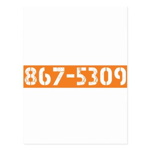 867-5309 POSTCARDS