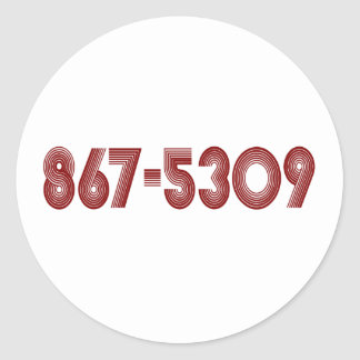867-5309 STICKERS