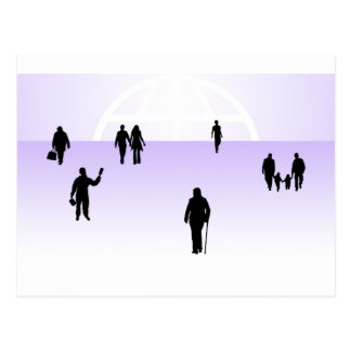 867 PEOPLE VECTOR SHAPES RELATIONSHIPS BUSINESS CO POSTCARD