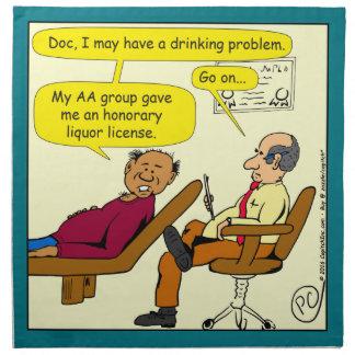 869 honorary liquor license cartoon napkin
