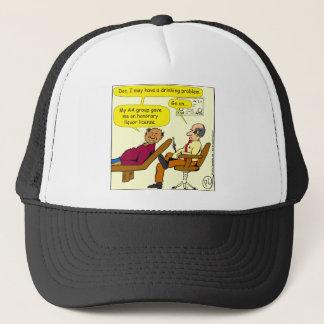 869 honorary liquor license cartoon trucker hat