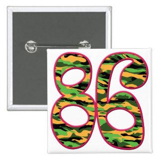 86 Age Camo 15 Cm Square Badge