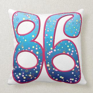 86 Age Rave Throw Pillows