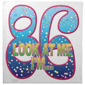 86 Age Rave Look Printed Napkin