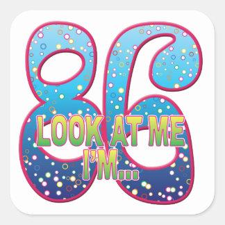 86 Age Rave Look Square Sticker
