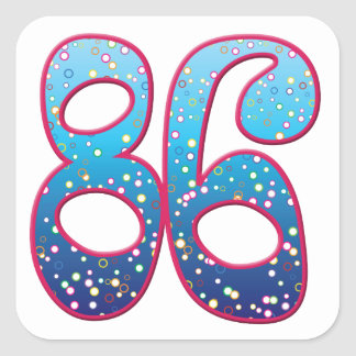 86 Age Rave Square Stickers