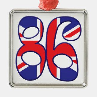 86 Age UK Silver-Colored Square Decoration