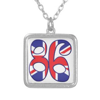 86 Age UK Square Pendant Necklace