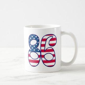 86 Age USA Basic White Mug