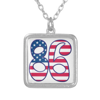 86 Age USA Square Pendant Necklace