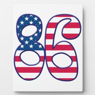 86 Age USA Display Plaques