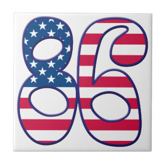 86 Age USA Small Square Tile