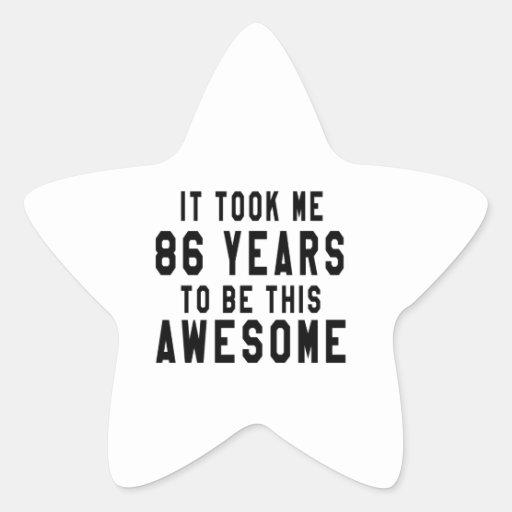 86 birthday designs star sticker