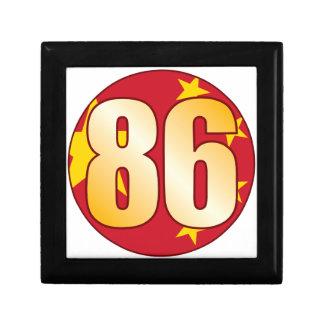 86 CHINA Gold Small Square Gift Box