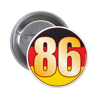 86 GERMANY Gold 6 Cm Round Badge