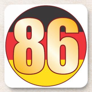 86 GERMANY Gold Beverage Coaster