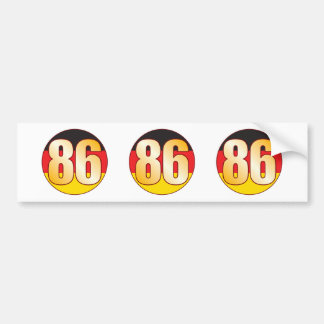 86 GERMANY Gold Bumper Sticker