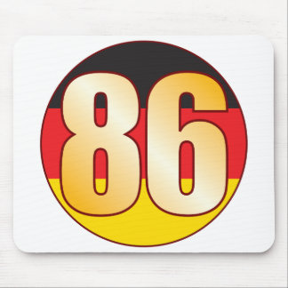 86 GERMANY Gold Mouse Pad